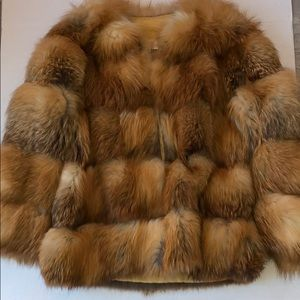 Jackets & Blazers - Red Fox Real Fur Vintage Coat